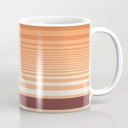 Ombre Horizontal Sienna and Orange Stripes Coffee Mug