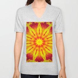 Mandala Fire Unisex V-Neck