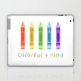 Colorful and Kind Crayons Laptop & iPad Skin