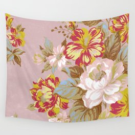 Soft Vintage Floral Wall Tapestry