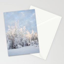 Snowy Tree Horizion Stationery Cards