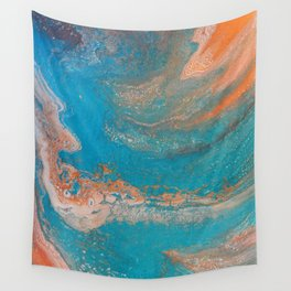 Sunset Blue Wall Tapestry
