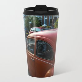 Red Beetle in street Travel Mug