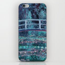 Monet The Lily Pond Turquoise Pink iPhone Skin