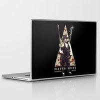 planet of the apes Laptop & iPad Skins featuring Mafia apes by Luiz Fogaça