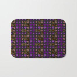 Halloween Peace Holiday Weave Bath Mat