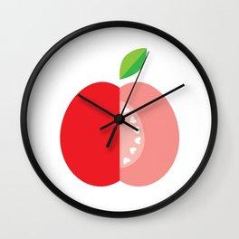 Apple hearts Wall Clock