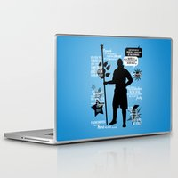 dragon age inquisition Laptop & iPad Skins featuring Dragon Age - Anders by firlachiel