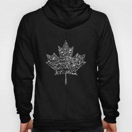 Maple Leaf - white Hoody