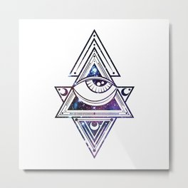 The All Seeing Eye Roll - Deep Space Punch Metal Print