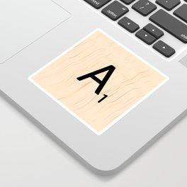 Letter A Scrabble Art Sticker