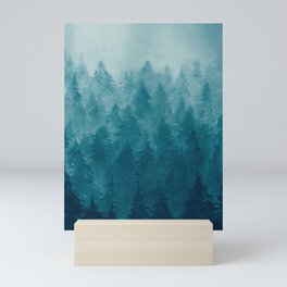 Misty Pine Forest Mini Art Print