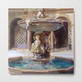 Cupid's Fountain Metal Print