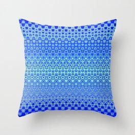 Mosaic Blue Throw Pillow