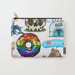Some of my best designs all in one pizza lgbt donut gamers fish gym duck bae kitten  dog Carry-All Pouch