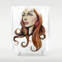 musa Shower Curtains featuring She by Alberto Rodriguez
