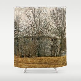 Interesting Barn Structure Shower Curtain