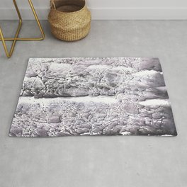 Gray marble painting Rug
