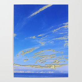 Mediterranean sky with mountains Poster