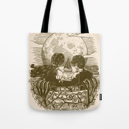 Love and Death At the Beach Tote Bag