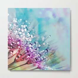 Colorful Floral with Morning Dew Metal Print