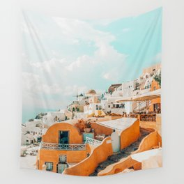 Santorini #travel #greece Wall Tapestry