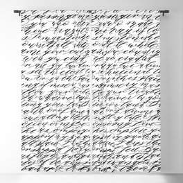 Modern Calligraphy Poem Blackout Curtain
