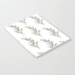 Baby Blue Eucalyptus Watercolor Painting Notebook