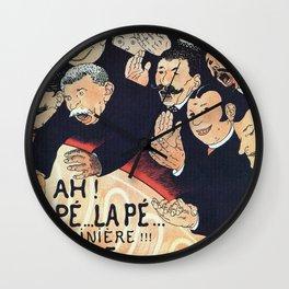 Paris 1895 Revue La Pepiniere Wall Clock