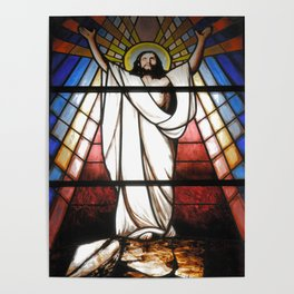 Stained glass window Poster