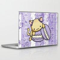 macaron Laptop & iPad Skins featuring Macaron Kitty by Fushigi na Ringo