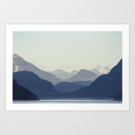 Alaska sailing Art Print