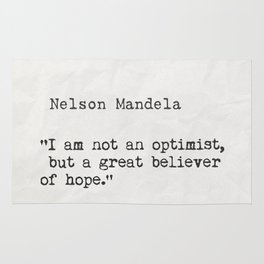 Nelson Mandela quote 3 Rug