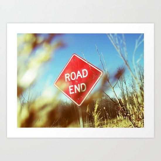 road end Art Print