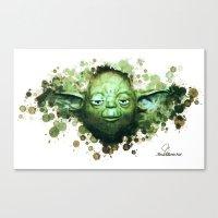 yoda Canvas Prints featuring Yoda by Rene Alberto
