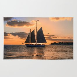 Sunset Sail and Plane Rug