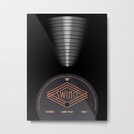 VINYL MUSIC / Swing Metal Print