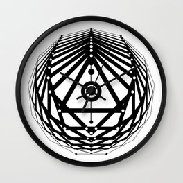 Radiant Abundance (white-black) Wall Clock