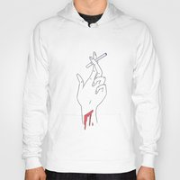 cigarettes Hoodies featuring Death and Cigarettes  by Little Francis