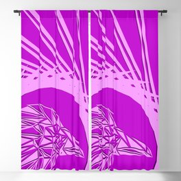 Bright abstract crimson bird on a purple background in the nest. Blackout Curtain