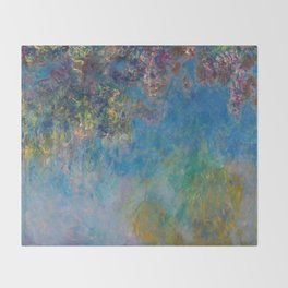 Wisteria by Claude Monet Throw Blanket