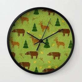 Woodland Origami Wall Clock