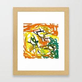 Summer Smear Framed Art Print