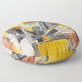 Autumn Rituals Abstract Painting Floor Pillow
