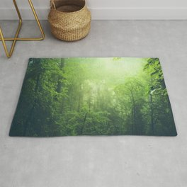 Lush Green Forest Rug