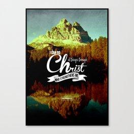 Typography Motivational Christian Bible Verses Poster - Philippians 4:13 Canvas Print