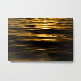 oro liquido Metal Print