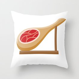 Spanish Ham Throw Pillow