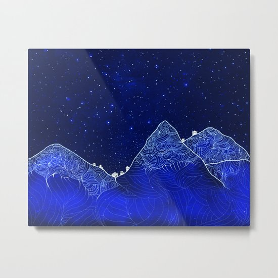 Somewhere up above the stars Metal Print