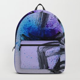 Japanese Style Abstract on Lavender Backpack